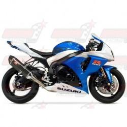Ligne complète inox racing Yoshimura Race R-77 FS SS-CF-CF Single silencieux finition Carbone pour Suzuki GSX-R1000 (2009-2011)