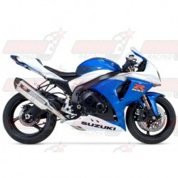 Ligne complète inox racing Yoshimura Race R-77 FS SS-SS-CF Single silencieux Carbone/Inox pour Suzuki GSX-R1000 (2009-2011)