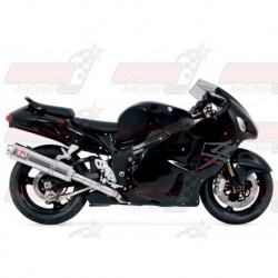 Ligne complète inox racing Yoshimura Race TRS FS SS-CF-SS Single silencieux finition Carbone pour Suzuki HAYABUSA (1999-2007)