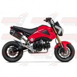 Ligne complète inox racing Yoshimura Race RS-9 FS SS-CF-CF silencieux finition Carbone pour Honda GROM (2014-2015)