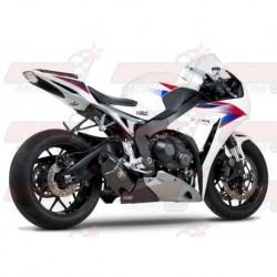 Ligne complète inox racing Yoshimura Race R-77 FS SS-CF-CF silencieux finition Carbone pour Honda CBR1000RR/ABS (2012-2013)