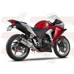 Ligne complète inox racing Yoshimura Race R-77 FS SS-SS-CF silencieux finition Carbone/Inox pour Honda CBR250R (2011-2013)