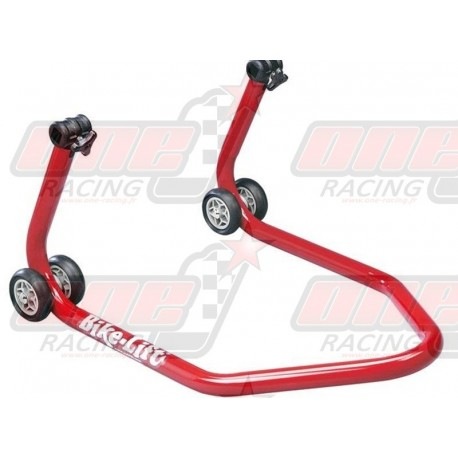 """Béquille arrière Bike Lift rouge universelle avec support en """"V"""""""