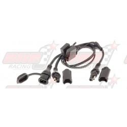 Câble TecMate O-5 SAE dédoubleur avec fusibles