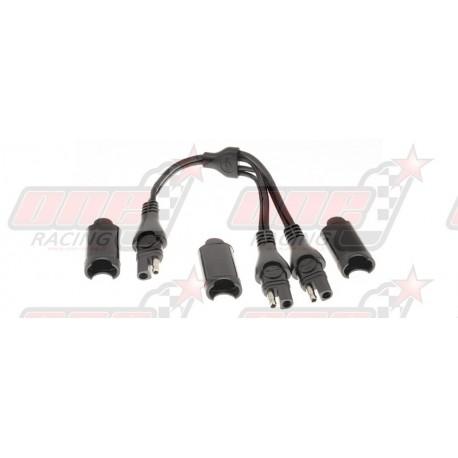 Câble dédoubleur TecMate O-15 connecteur SAE sans fusible
