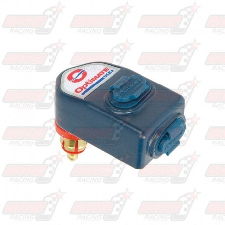 Chargeur TecMate O-105 allume cigare / 2 sorties USB (3300 mA)