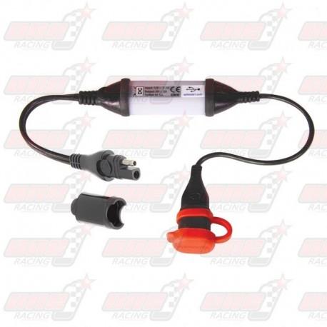 Adaptateur USB TecMate O-107 étanche 2100 mA