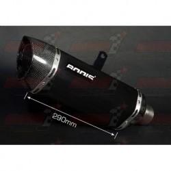 Silencieux Bodis P-TEC II [inox noir] pour Aprilia RSV4 (2009-2014)