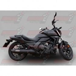 Silencieux Bodis OVAL 1OK-C [inox noir] pour Honda CTX700 (2014)
