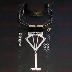 Support de plaque Bodis en inox compatible silencieux Bodis OVAL Q1 pour Kawasaki NINJA ZX-6R (2005-2006)