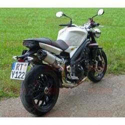 Silencieux Bodis OVAL-TEC [inox meulé] pour Triumph Speed Triple (2005-2010)