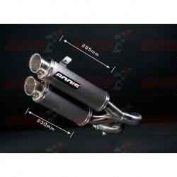 Silencieux Bodis GPX2-S verion décatalysé [inox meulé] pour Yamaha FZ1 (2006-2016)
