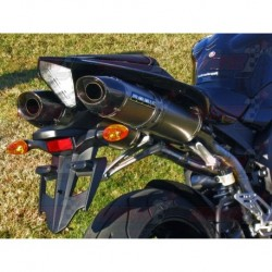 Silencieux Bodis OVAL Q2C [titane] pour Yamaha YZF R1 (2007-2008)
