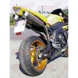 Silencieux Bodis OVAL Q2C [inox/titane] pour Yamaha YZF R1 (2004-2006)