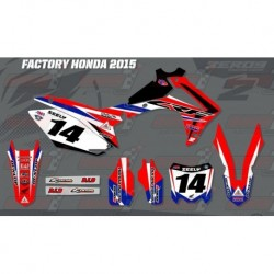 Kit décoration Honda Race Team Graphic Kit - Factory 15