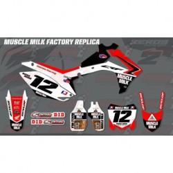 Kit décoration Honda Race Team Graphic Kit - Muscle Milk Factory Replica