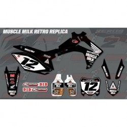 Kit décoration Honda Race Team Graphic Kit - Muscle Milk Retro Black