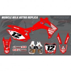 Kit décoration Honda Race Team Graphic Kit - Muscle Milk Retro Red