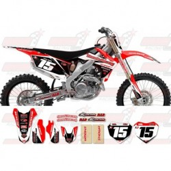Kit décoration Honda Race Team Graphic Kit - Team Issue Red / Black