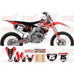 Kit décoration Honda Race Team Graphic Kit - Team Issue Red / Black