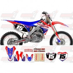 Kit décoration Honda Race Team Graphic Kit - Team Issue Red / Blue