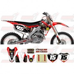 Kit décoration Honda Rockstar Graphic Kit - Factory Red / Black 11