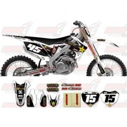 Kit décoration Honda Rockstar Graphic Kit - Factory White / Black 11