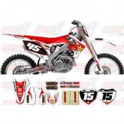 Kit décoration Honda Rockstar Graphic Kit - Factory White / Red 11