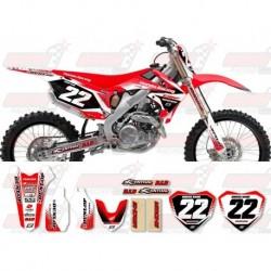 Kit décoration Honda Zeronine Graphic Kit - Targa2 Red / White