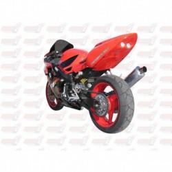 Passage de roue Hotbodies couleur Accurate Silver Metallic (12) avec feu stop et clignotants leds pour Honda CBRF4i (2001-2003)