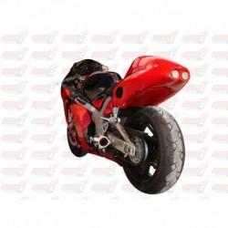 Passage de roue Hotbodies couleur Black (8) avec feu stop et clignotants leds pour Suzuki Hayabusa (1999-2007)