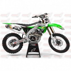 Kit décoration Kawasaki Retro Team Graphic Kit - Chevy Trucks KX 125/250 (2004-2008)