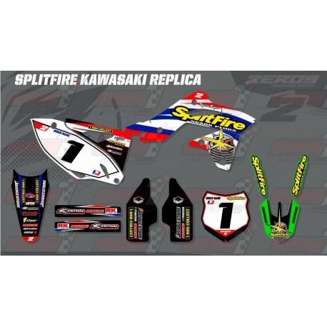 Kit Decoration Kawasaki Retro Team Graphic Kit Splitfire Kawasaki
