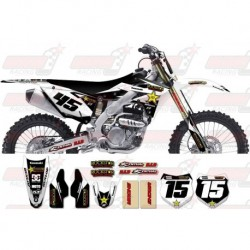 Kit décoration Kawasaki Rockstar Graphic Kit - Factory White / Silver 11