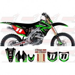 Kit décoration Kawasaki Zeronine Graphic Kit - Targa2 Black / Green