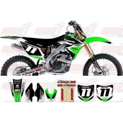 Kit décoration Kawasaki Zeronine Graphic Kit - Targa2 Green / Black