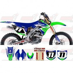 Kit décoration Kawasaki Zeronine Graphic Kit - Targa2 Green / Blue