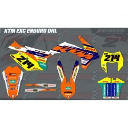 Kit décoration KTM Enduro - EXC DHL