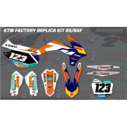 Kit décoration KTM Race Team Graphic Kit - Factory 15