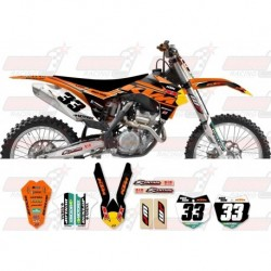 Kit décoration KTM Race Team Graphic Kit - Factory Black