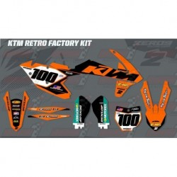 Kit décoration KTM Race Team Graphic Kit - Factory Retro