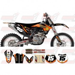 Kit décoration KTM Rockstar Graphic Kit - Factory Black Orange 11