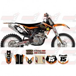 Kit décoration KTM Rockstar Graphic Kit - Factory Orange Black 11