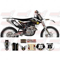 Kit décoration KTM Rockstar Graphic Kit - Factory White / Black 11