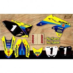 Kit décoration Suzuki Retro Team Motocross Graphic Kit - Bomber