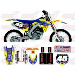 Kit décoration Suzuki Race Team Graphic Kit - Fork Rent