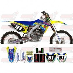 Kit décoration Suzuki Race Team Graphic Kit - MVRD 10 Blue / Blue
