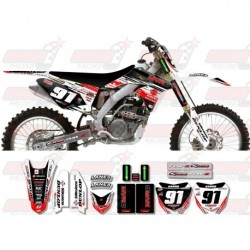 Kit décoration Suzuki Race Team Graphic Kit - MVRD 10 White / Black