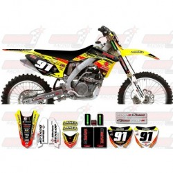 Kit décoration Suzuki Race Team Graphic Kit - MVRD 10 Yellow / Black