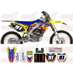 Kit décoration Suzuki Race Team Graphic Kit - MVRD 10 Yellow / Blue